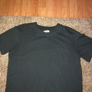 Cropped dark gray shirt
